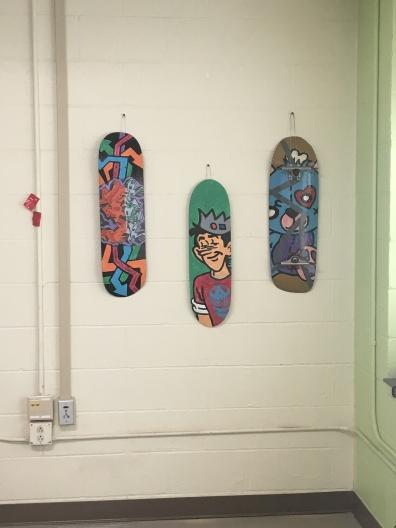 Jody Harris, Street art, spray paint on skateboards