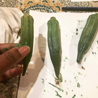 Historic faux food; Historic fake food; okra